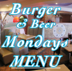 Burger Beer Mondays Menu