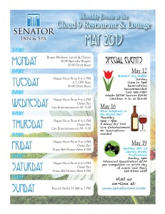 Senator Inn May Events