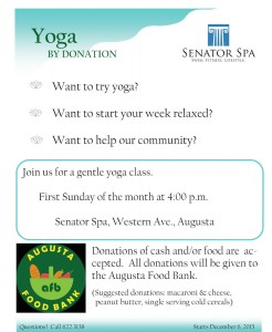 Donation yoga flyer
